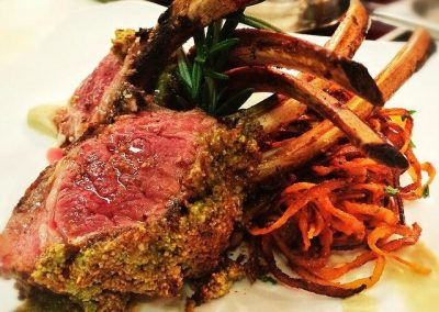 Abigail's Grille & Wine - Pepita and Pumpkin Crusted Lamb Rack