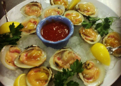 Figaro Ristorante - Clams on Half Shell