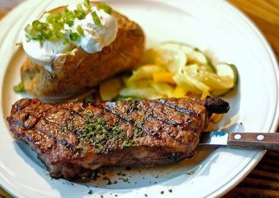Cal's Wood-Fired Grill & Bar - Steak and Baked Potato