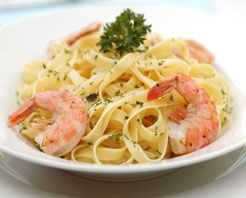 Casa Mia @ The Hawthorne - Pasta Primavera with Grilled Shrimp