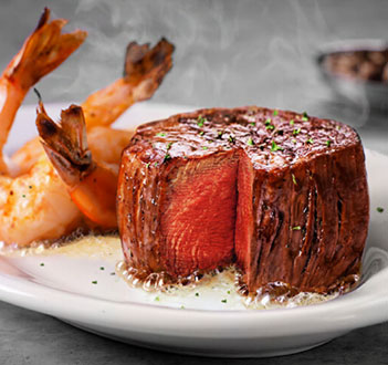 Petite Filet and Shrimp